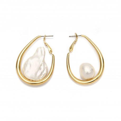 Vi.Ve Water Drop Pearl Unbalance Earrings