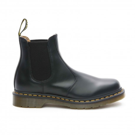 Dr. Martens 2976 Yellow Stitch Chelsea Boots, Smooth
