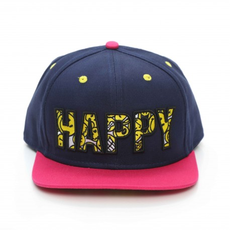 Smiley World Happy Flat Eaves Baseball Cap