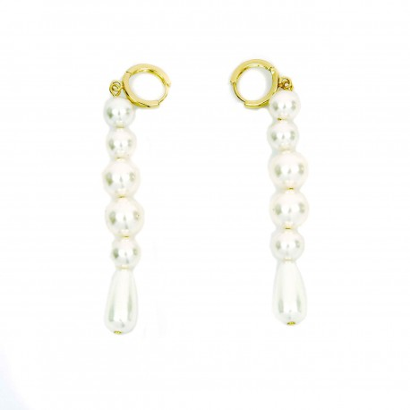 Vintage Hollywood Dropped Pearl Earrings