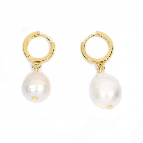 Vintage Hollywood Baroque Pearl Drop Earrings