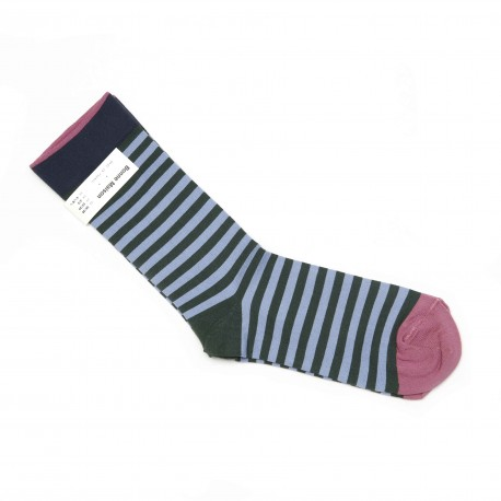 Bonne Maison Grey Stripes Socks