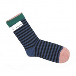 Bonne Maison Blackish Green Stripes Socks