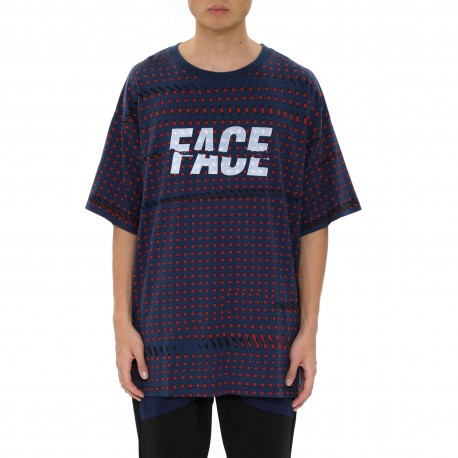 "Facetasm Oversized Polka-dot ""Face"" T-Shirt"