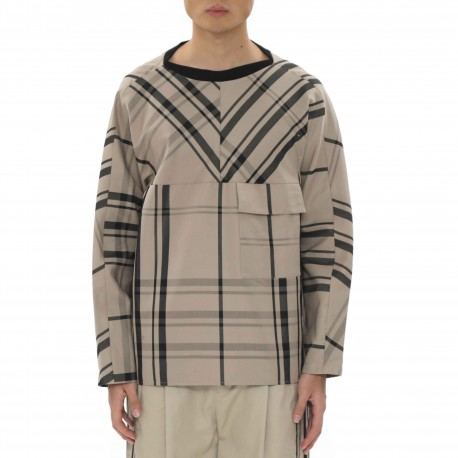 Ffixxed Studios Boat Neck Chequered Top