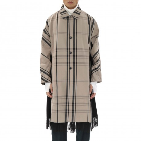 Ffixxed Studios Chequered Trench Coat with Wool Panels