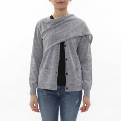 Costume National Cardigan with Stole Detail
