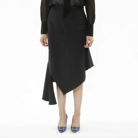 Costume National Skirt with Diagonal Slit Detail