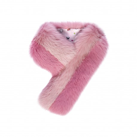 Charlotte Simone Real Fox Fur Scarf with Silk Backing