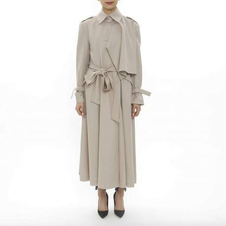 YCH Trench Coat with Draping Details