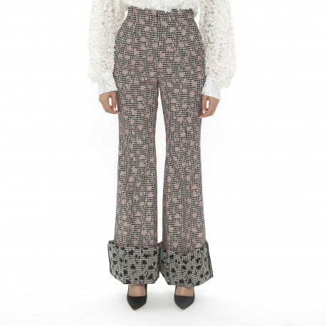 YCH Brocade Trousers with Contrasting Cuffs