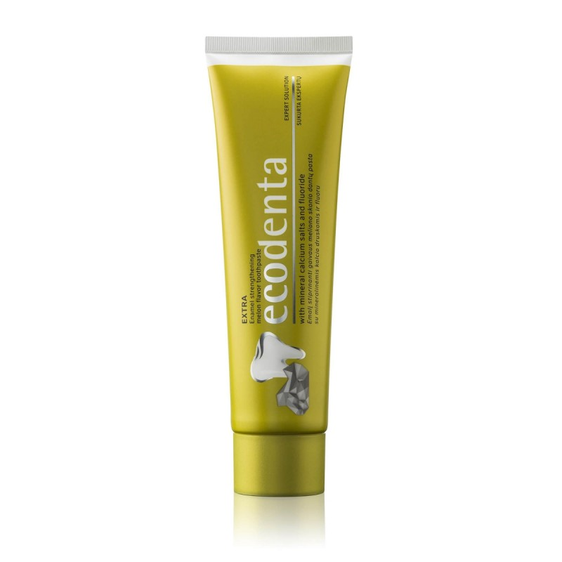 ECODENTA Extra Enamel strenghtening melon flavor toothpaste with mineral