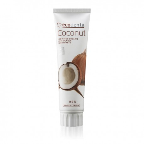ECODENTA COSMOS ORGANIC anti- plaque toothpaste with coconut oil and zinc