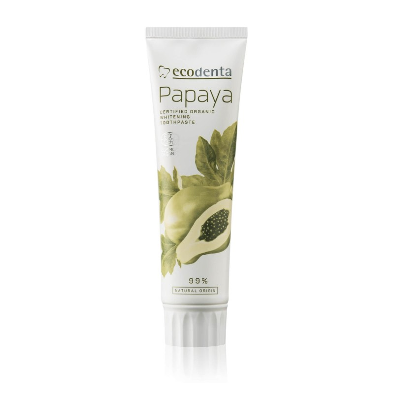 ECODENTA COSMOS ORGANIC whitening toothpaste with papaya extract