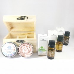 DK Aromatherapy Essential Oil, Fragrant Stone and Wood Box Set
