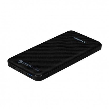 Momax iPower iPower Minimal PD Quick Charge External Battery Pack 10000mAh (IP65KAD) Black