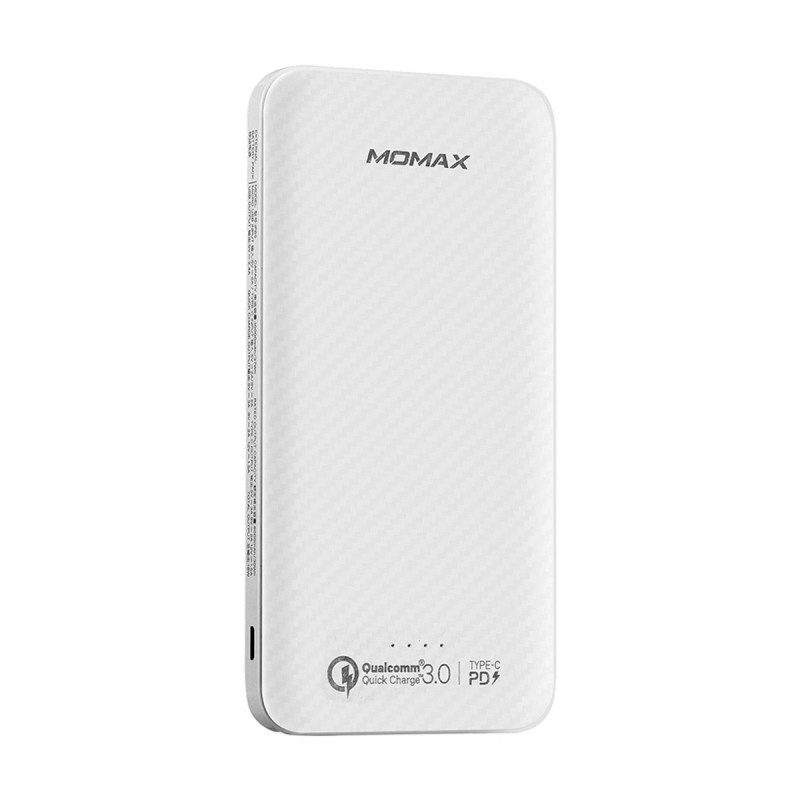 Momax iPower iPower Minimal PD Quick Charge External Battery Pack 10000mAh (IP65KAW) White