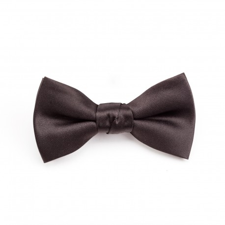 MODE Black Bow Tie With Pocket Square