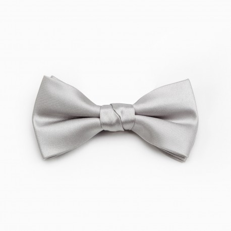 MODE Grey Bow Tie With Pocket Square