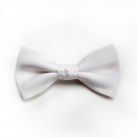 MODE White Bow Tie With Pocket Square