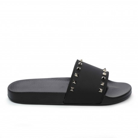 Valentino Rubber Slides With Stud Details
