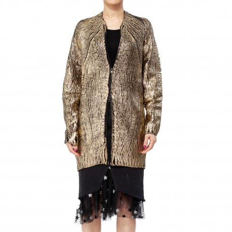 Jijil Metallic Gold-tone Cardigan