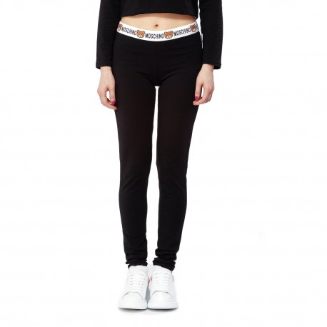 Moschino Underwear Leggings with Teddy Bear Waistband Detail