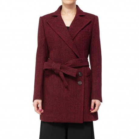 Bourie Herringbone 3-button Midi Jacket