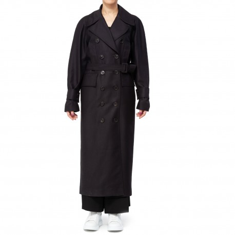 Bourie 3-Stithching Double-breasted Trench Coat