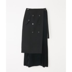 Costume National Trench Pleated Skirt