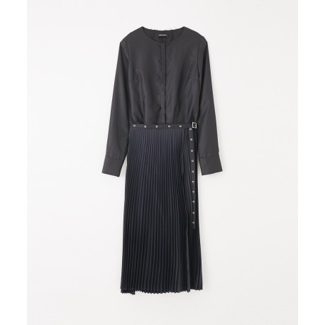 Costume National Pleated Shirt Dress
