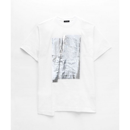 Costume National Metallic-print T-shirt