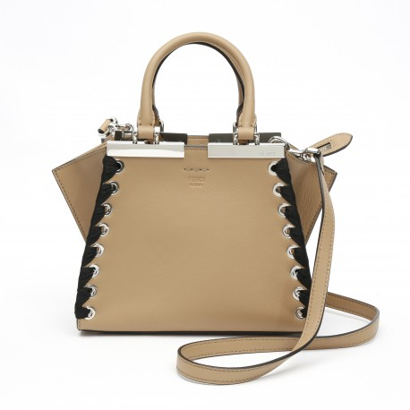 Fendi Mini 3jours Natural-Colour Leather Mini-Bag