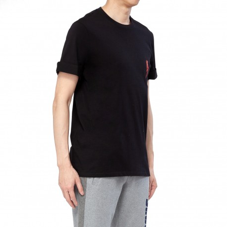 Neil Barrett Scribble Bolt Roll-up Sleeve T-shirt