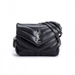 "Saint Laurent Loulou Toy Bag in Matelassé ""Y"" Leather with Silver-tone Hardware"