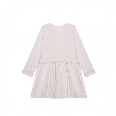 Adorami Pleated-front Long-sleeve Dress