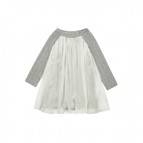 Adorami Raglan-sleeve Sheer-trimmed Dress