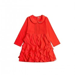 Adorami Ruffle and Pleat-detailed Dress