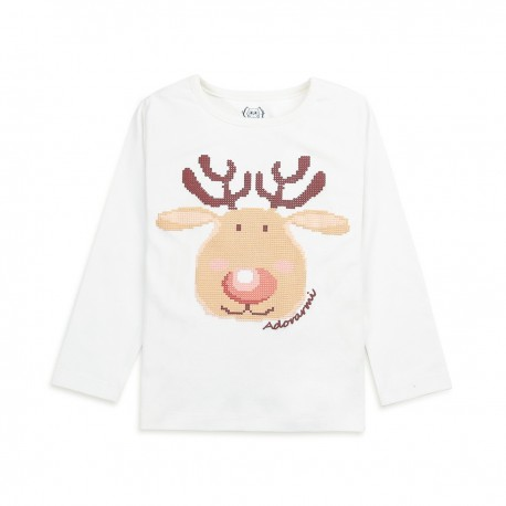 Adorami Reindeer-printed Long-sleeve T-shirt
