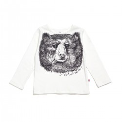 Adorami Bear-printed Long-sleeve T-shirt