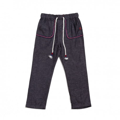 Adorami Stitching-trimmed Sweatpants