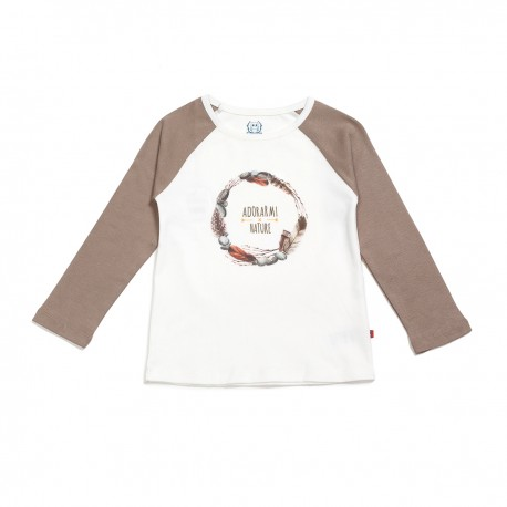 Adorami Long Raglan-sleeve Printed T-shirt