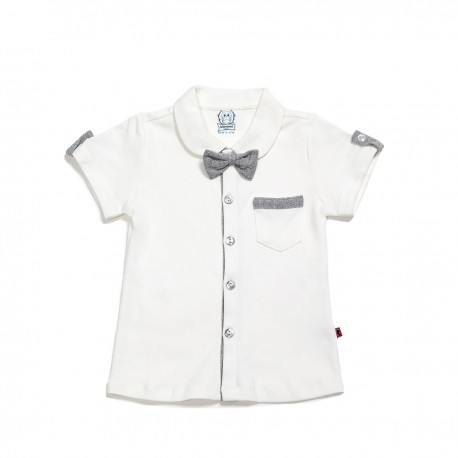 Adorami Bow-trimmed Short-sleeve Shirt