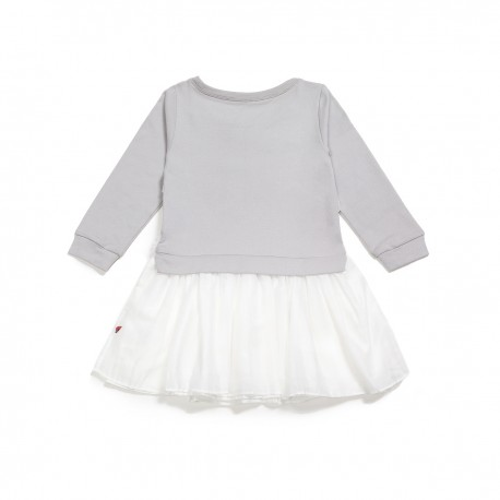 Adorami Tulle-skirt Embroidered Sweatshirt Dress