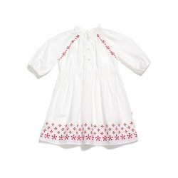 Adorami Raglan-sleeve Embroidered Dress