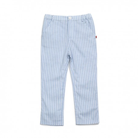 Adorami Linen Blend Striped Trousers