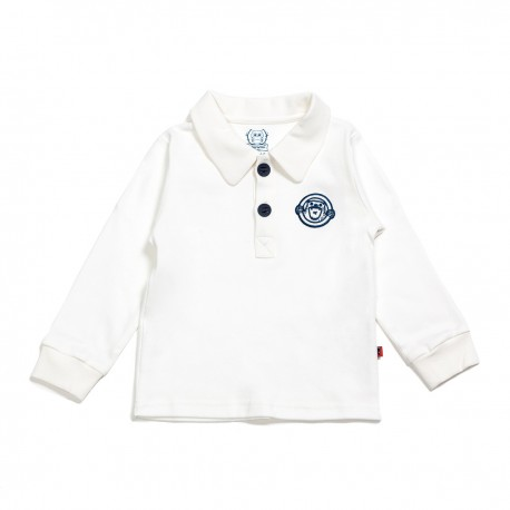 Adorami Applique Long-sleeve Polo Shirt