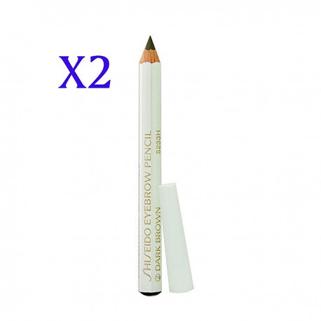 SHISEIDO Eyebrow Pencil #02 Dark Brown  white
