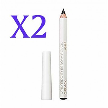 SHISEIDO Eyebrow Pencil #01 Black  blue