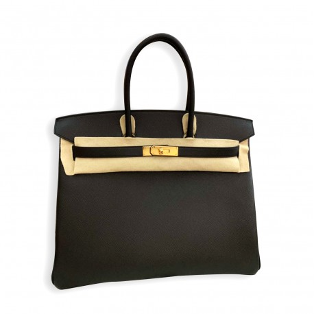 Hermes Birkin 35 Gold Buckle
